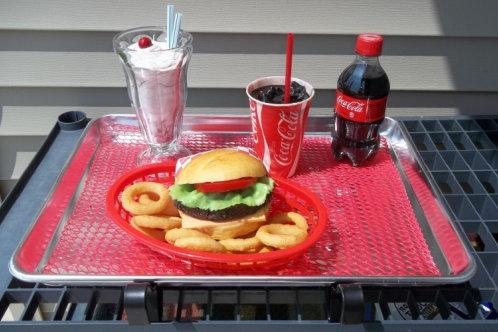 Burger & Rings Tray