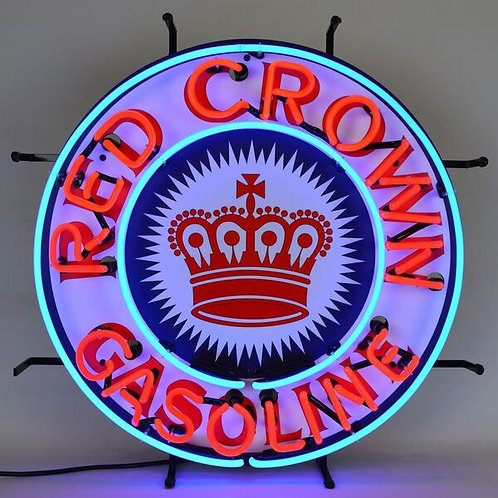 Red Crown Gas Neon Sign