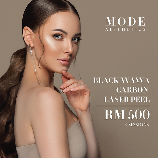 Black Wawa Carbon Laser Peel for 3 sessions