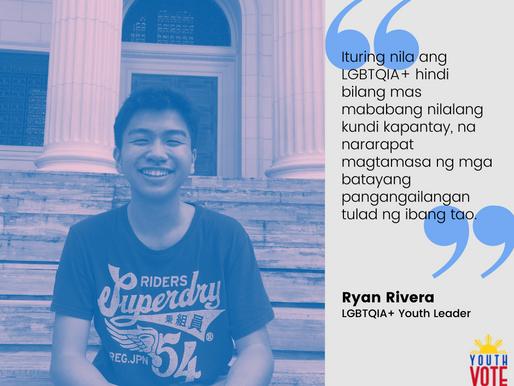 Ryan Rivera: Gusto Kong Bumoto Para Sa Mga LGBTQIA+