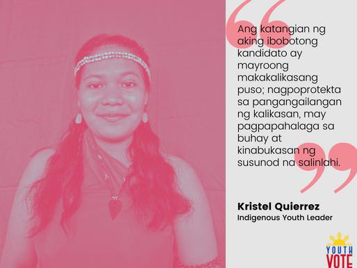 Kristel Quierrez: Gusto Kong Bumoto Para Sa Mga Katutubo