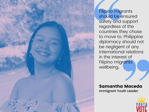 Samantha Maceda: Gusto Kong Bumoto Para Sa Mga Imigrante