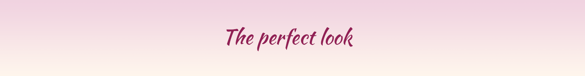 the perfect look באנר
