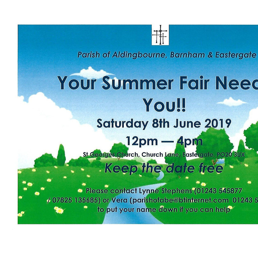 Helpers Needed for the Summer Fair