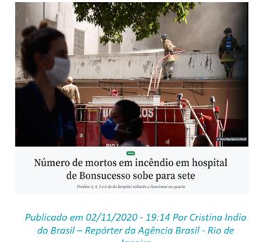 RISCO DE INCÊNDIO NAS INSTALAÇÕES HOSPITALARES