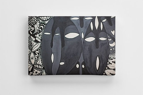 Iboju (Mask) Canvas Print - 12 x 8 inches