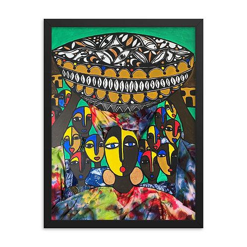 Arugba (Calabash Carrier) Framed poster