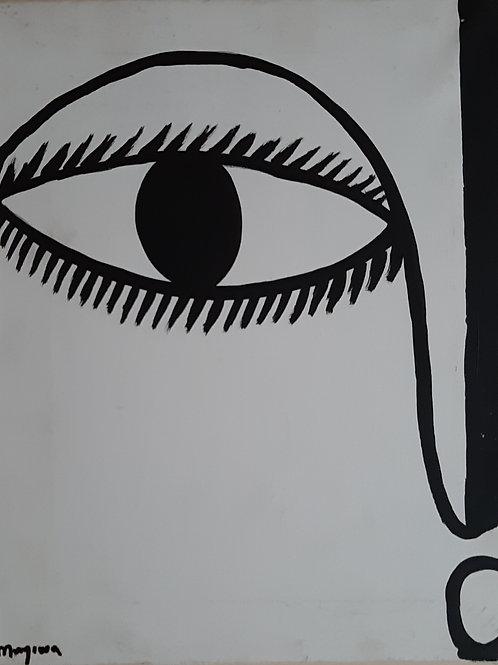 Ojúlarí, Acrylic on canvas, 11x14 inches.