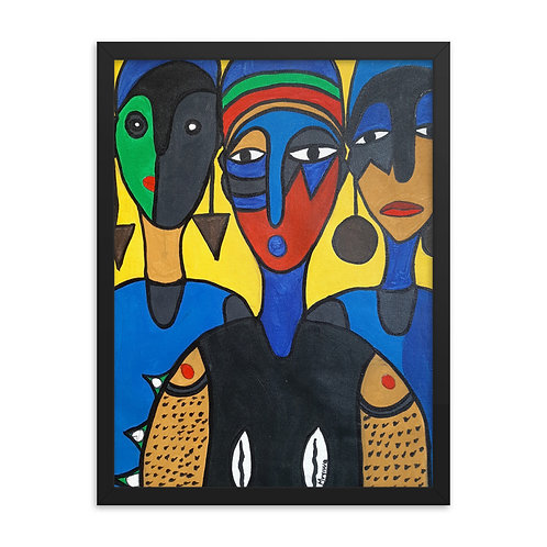Aaro Meta (Three Stones) Framed Poster