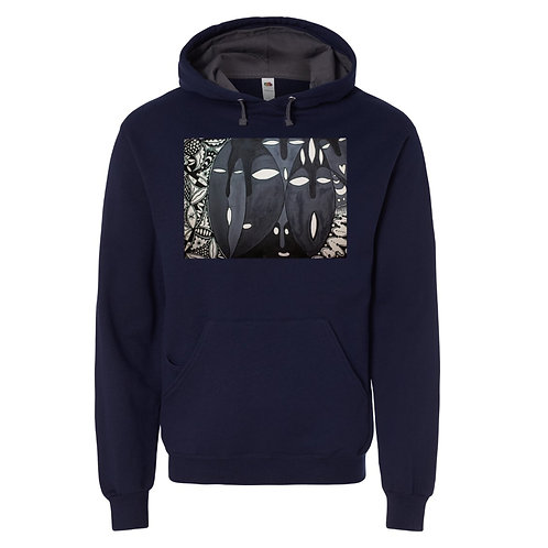 Iboju (Mask) Unisex Hooded Pullover Sweatshirt