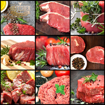 Collection Of Raw Beef