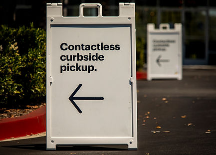 Sign advertising Contactless Curbside Pi