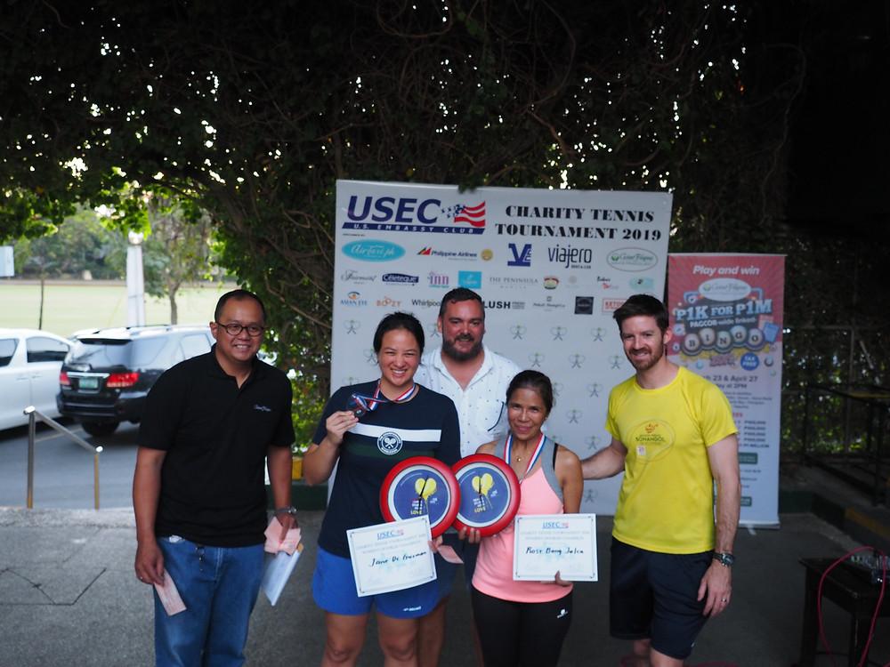 2019 USEC Charity Tennis Tournament Women's Doubles Champions
