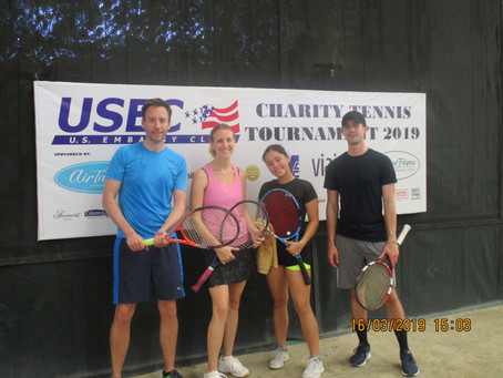 Second Annual Charity Tennis Tournament a Great Success