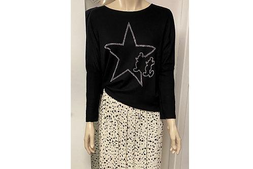 Pull Mickey star noir