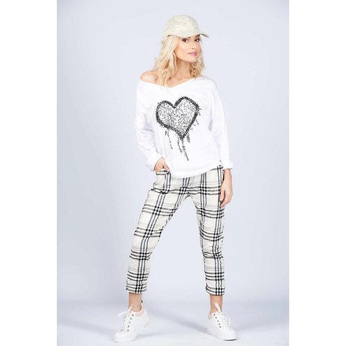 Pantalon Caro blanc