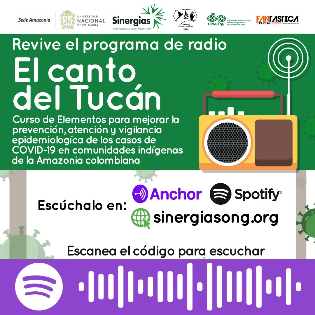 El canto del tucán Amazonas, disponible en Spotify y Anchor