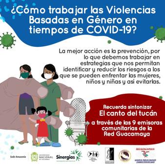 ¿Cómo trabajar las Violencia Basadas en Género en tiermpos de COVID-19?