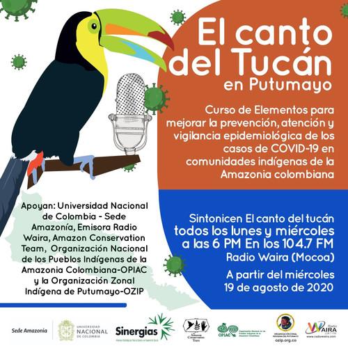 Pieza promocional El Canto del tucán Putumayo