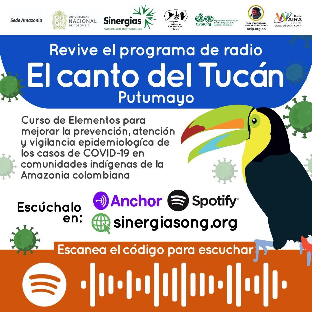 Revive El canto del tucán Putumayo en Spotify y Anchor