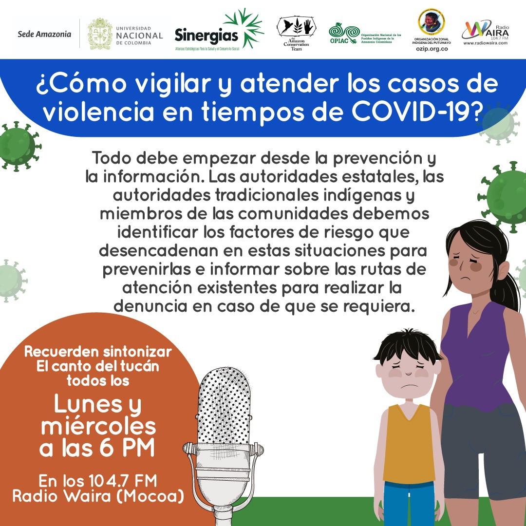 ¿Cómo vigilar y atender los casos de violencia en tiempos de COVID-19?