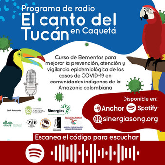 El canto del tucán en Caquetá, disponible en Spotify y Anchor