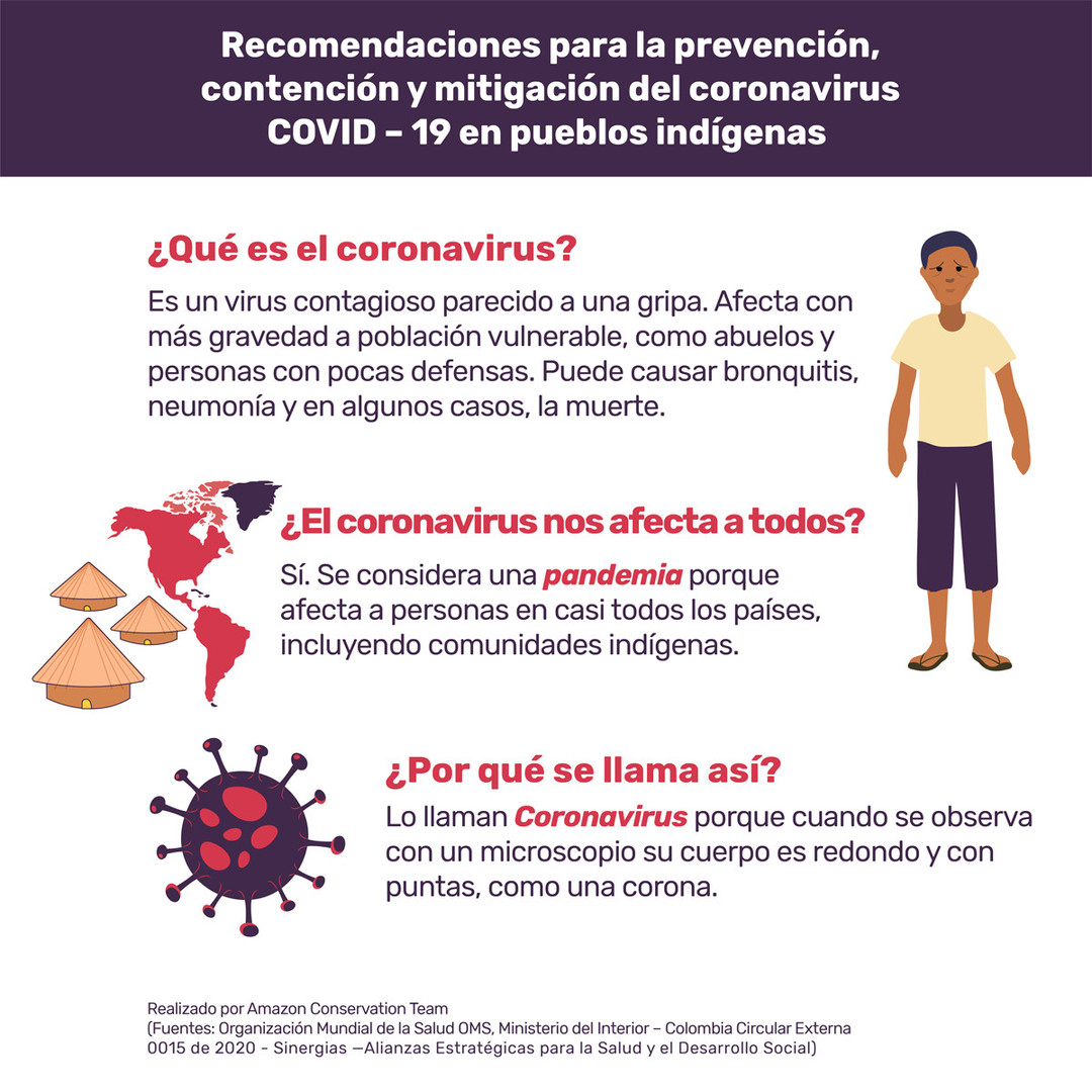 Recomendaciones para la prevención, contención y mitigación del COVID-19 en pueblos indígenas