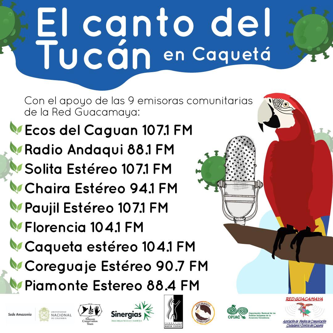 Pieza promocional El canto del tucán Caquetá