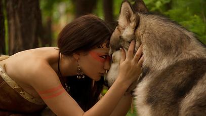 szembenézés, lány farkassal, önismeret