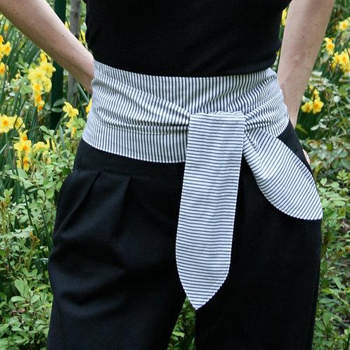 Black and White sash