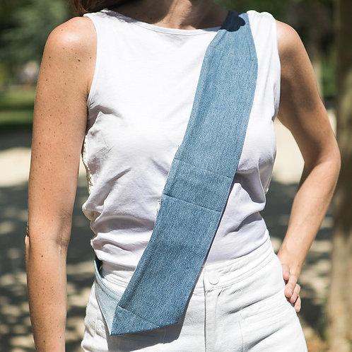 London two-pocket sash bag