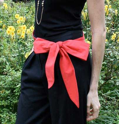 Crimson sash