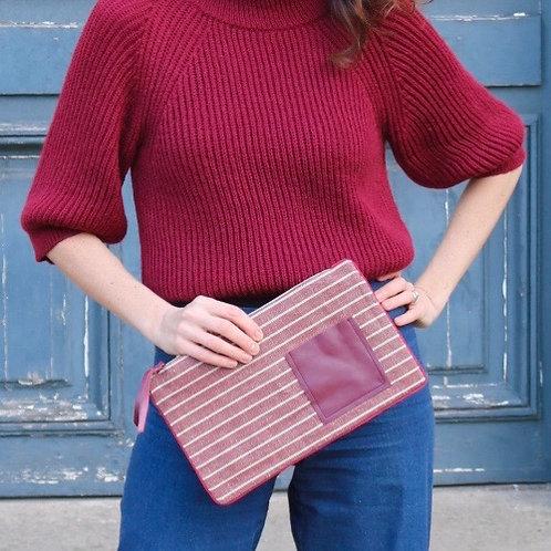 Bordeaux Rouge clutch