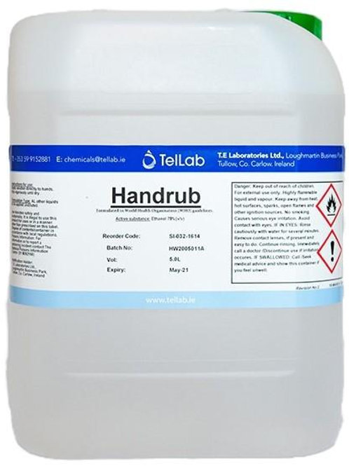 IPA - 78% Alcohol Hand Sanitiser 5L Box of 4.
