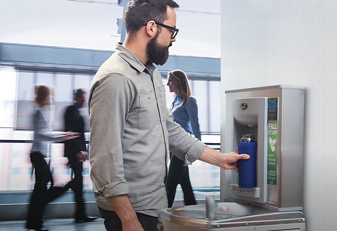Contactless Bottle Filler for waste reduction