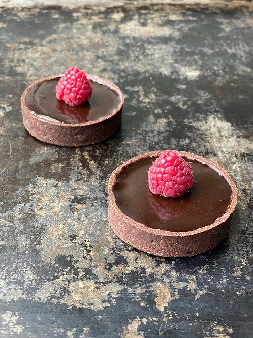Tartelete de Chocolate-Framboesa