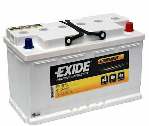 EXIDE ET 650 свинцово-кислотный аккумулятор (Тяговый)