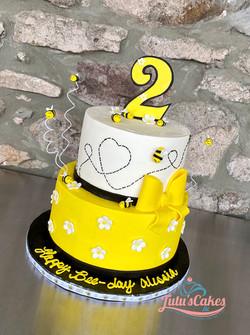 Happy Bee day theme cake