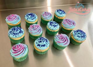 Simple sprinkle/jimmies cupcakes