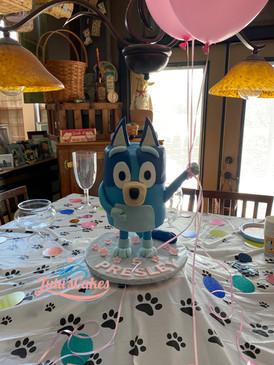 Bluey Dog theme cake