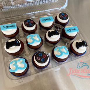 Play station theme cupcakes