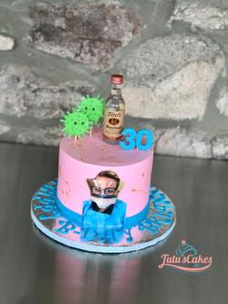 Corona virus nurse cake
