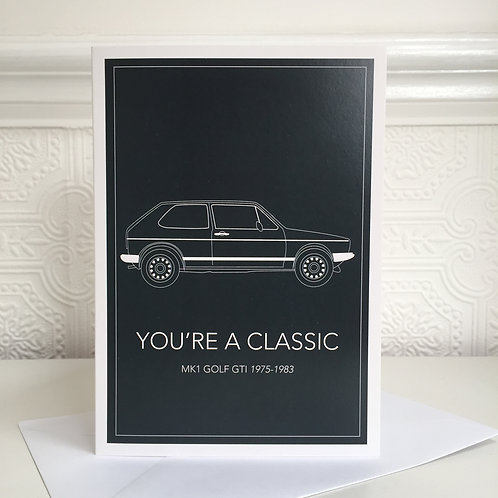 MK1 GOLF GTI Greetings Card