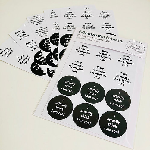 STICKERS alternative positive affirmations