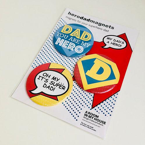 MAGNET SET for a super hero dad!