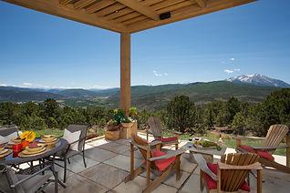 Patio with views of Mt Sopris, Colorado