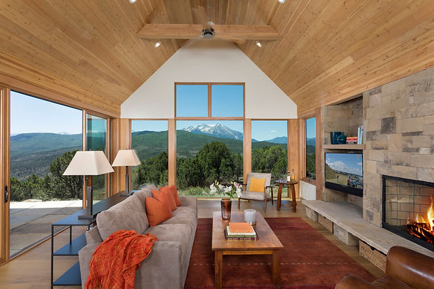 Open living space with large windows