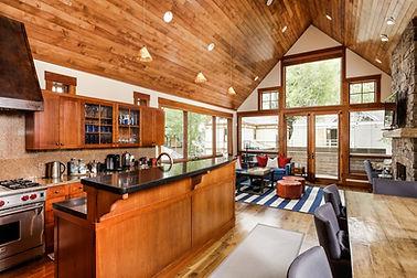 Open concept kitchen in Aspen, CO