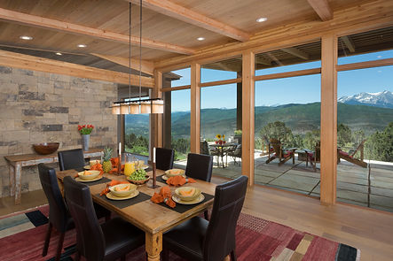Dining space with natural accents