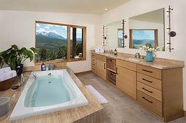 Gorgeous views in master bathroom